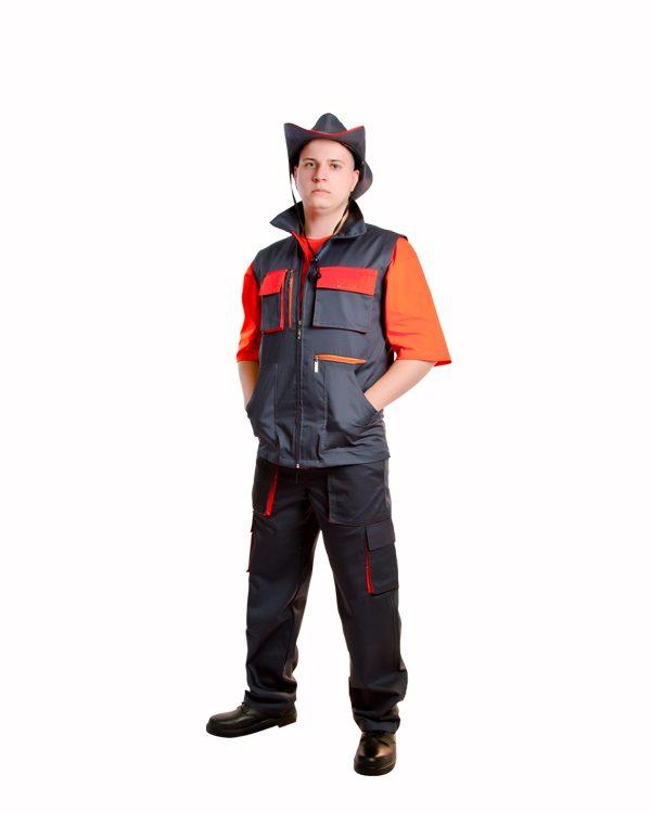 жилет рабочий, жилет строительный, демисезонная спецодежда, форма для рабочих