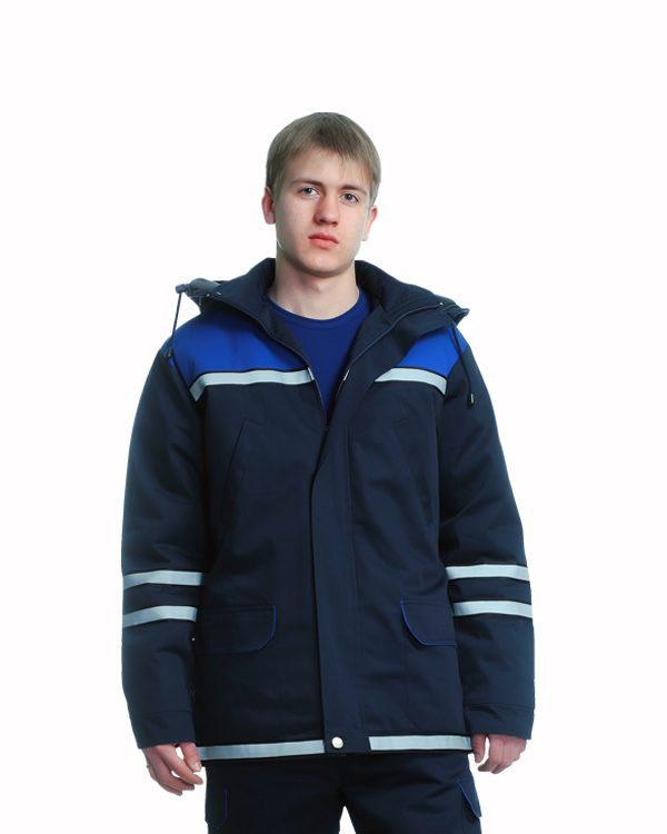 куртка утепленная, куртка зимняя, на синтепоне, для охраны и рабочих склада